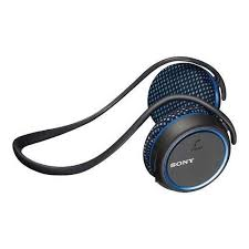 sony bluetooth headset. sony mdr-as700bt/l behind-the-neck water-resistant bluetooth headset nfc | blue