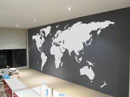 extra large world map vinyl wall sticker stickers with