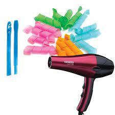 Máy sấy tóc 2 chiều nóng lạnh KM1269 + Tặng Bộ uốn tóc không dùng nhiệt (18  lô)