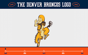 denver broncos logo. 1960\u20131961: the original denver broncos logo is quite a bit different than what fans are used to today. colors match uniforms of time \u2013 mustard