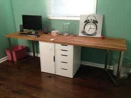 office desk furniture ikea. captivating office makeover part one desk hack furniture ikea home desks uk n