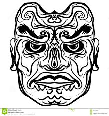 дизайн татуировки племенной иллюстрации маски иллюстрация вектора
