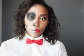 easy makeup half glam half skull tutorial