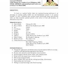 Nursing Resume Template Free Lcysne Com