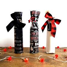 How To Decorate A Wine Bottle For Christmas Wine Bottle Wrap Christmas Edition northstory 55