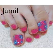 Jamilさんのネイルデザイン 夏フット夏フットネイル Tredina