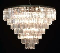 odeon crystal chandelier odeon crystal fringe 5 tier chandelier