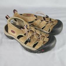 details about keen waterproof sport sandals womens size 8 brown leather