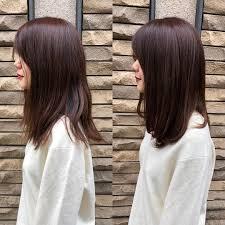 前髪別のミディアムストレートの可愛い髪型14選レイヤーセミロング Cuty
