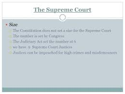 size of supreme court the court system the us federal court system the current supreme
