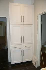 Diy Kitchen Pantry Cabinet Diy Black Kitchen Pantry Cabinet With Four Doors And One Drawer