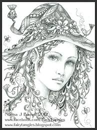 Fairy Tangles Coloring Pages Beautiful Pinterest Kleurplaten Kleuren