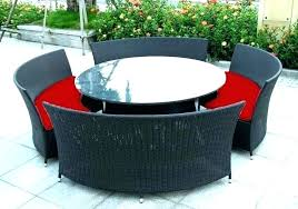 outdoor seating with fire pit table wicker ning round setting premium timber projects sets