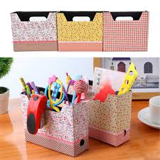 diy office supplies. Cute Desk Organizer Makeup Cosmetic Stationery Holder DIY Kawaii Paper Board Storage Box Decoration Office Supplies 1PC-in Home From Diy :