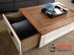 distressed coffee table with storage