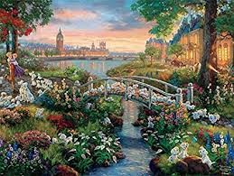 ceaco the disney collection 101 dalmatians puzzle by thomas kinkade puzzle 750 piece