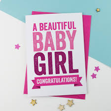 Awesome New Baby Girl Card A Is For Alphabet
