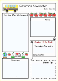 Teachers Newsletter Templates 33 Free Teacher Newsletter Templates Microsoft Word