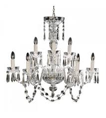 waterford crystal 950 000 36 11 lismore 9 light 32 inch clear crystal chandelier ceiling light