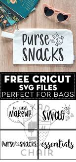 I often throw my makeup bag, filled with just the essentials, in with my stuff when i'm on the go. Free Cricut Svg Files Perfect For Bags Polka Dot Chair