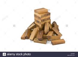 Wooden Brick Game Jenga wooden block game Stock Photo 100 Alamy 79