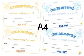 Completion Certificates Free End Of Year Certificates Printable Early Years Ey Eyfs