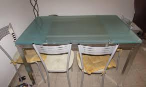 Alghero: tavolo cucina scavolini acciaio e piano vetro satinato
