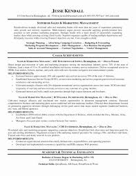 Sample Resume Objectives For Sales And Marketing Valid Marketing