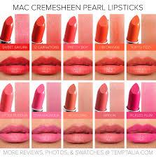 Light Coral Lipstick Mac Sneak Peek Mac Cremesheen Pearl Lipsticks Photos Swatches