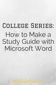 Microsoft Word Study Guide Template Riley Pauley Wuptrot81 On Pinterest