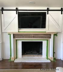 turn an outdated fireplace into a farmhouse stunner diy fireplace mantelcottage