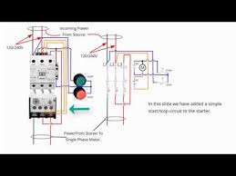 single phase starter connections youtube 3 Phase Starter Wiring Diagram single phase starter connections 3 phase motor starter wiring diagram