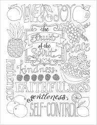 Small Picture Fruit of the Spirit Coloring Page