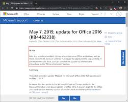 Microsoft Releases Buggy Office 2016 Patch Kb4462238