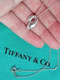 tiffany co elsa peretti sterling silver double teardrop pendant necklace 16