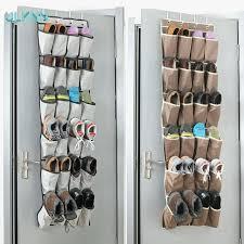 hanging shoe rack for closet door decor ideas door hanging shoe storage over the door shoe