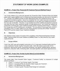 It Statement Of Work Contractor Statement Of Work Template Luxury Scope Work Example