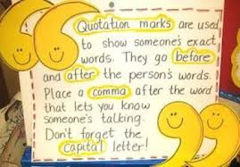 Quotation Marks Anchor Chart L3 2c Quotation Marks Lessons Tes Teach