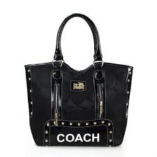 Coach Madison Signs Large Black Totes FEJ