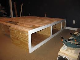 diy storage bed. Diy Queen Platform Bed With Gallery Including Storage Images