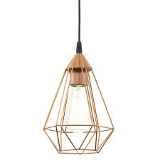Copper Kitchen Lights Eglo Tarbes Copper Coloured Breakfast Bar Light Fitting Type