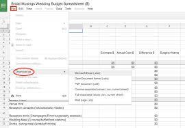 free wedding budget worksheet the wedding budget bridal musings