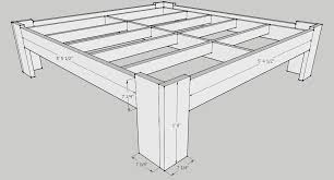 king size bed frame dimensions. Perfect Frame The Outer Frame Pieces Were Attached To The Inner Using Screws  Drilled Through From Frame You May Need Adjust Measurements Of  With King Size Bed Frame Dimensions