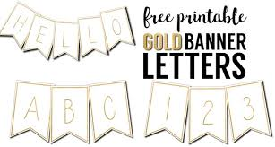 Free Printable Banner Letters Templates Paper Trail Design