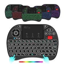 Rii X8 Plus 2.4G Bàn Phím Mini Không Dây Có Bàn Di Chuột Thoại Điều Khiển  Từ Xa Có Đèn Nền Pin Sạc Cho Android TV Box máy Tính|Keyboards