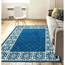 solid dark blue area rug well woven modern light