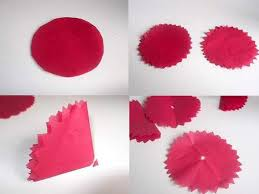 Making Of Flower With Paper Make Tissue Paper Flowers