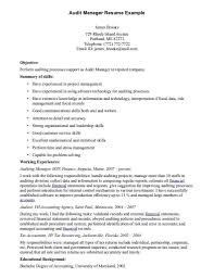 Auditor Resume Examples pertaining to Internal Audit Manager Resume