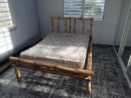 homemade bamboo bed frame under 20