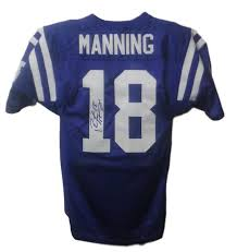 Manning Jersey Indianapolis 46 Jsa Colts Blue Peyton Autographed Wilson Size